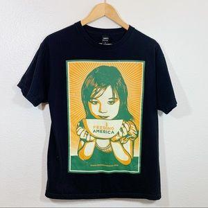 Obey Awareness Feeding America graphic t shirt